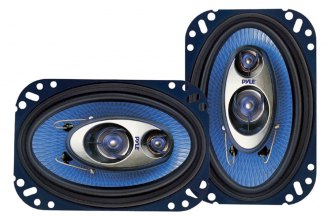 "Pyle® - 4""x6"" 240W Blue Poly Injection Cone 3-Way Speakers"