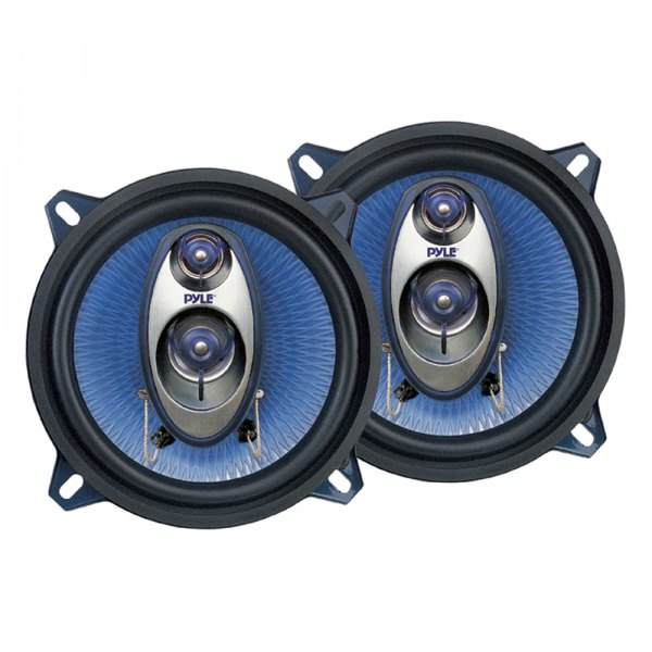 "Pyle® - 5.25"" 200W Blue Poly Injection Cone 3-Way Speakers"