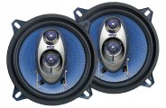 "Pyle� - 5.25"" 200W Blue Poly Injection Cone 3-Way Speakers"
