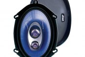 "Pyle® - 5""x7""/6""x8"" 300W Blue Poly Injection Cone 3-Way Speakers"