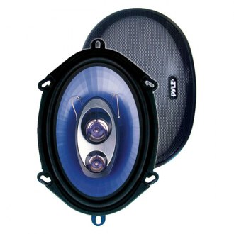 "Pyle® - 5"" x 7""/6"" x 8"" Blue Poly Injection Cone 3-Way 300W Speakers"