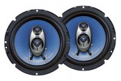 "Pyle® - 6.5"" 360W Blue Poly Injection Cone 3-Way Speakers"
