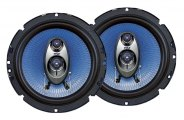 "Pyle� - 6.5"" 360W Blue Poly Injection Cone 3-Way Speakers"
