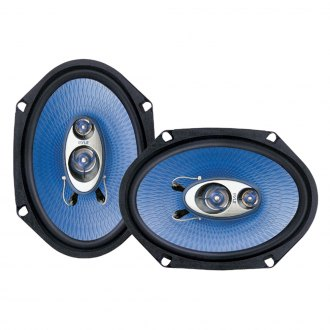 "Pyle® - 6"" x 8"" 3-Way Blue Poly Injection Cone 360W Speakers Systems"