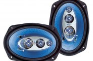 "Pyle� - 6""x9"" 400W Blue Poly Injection Cone 4-Way Speakers"