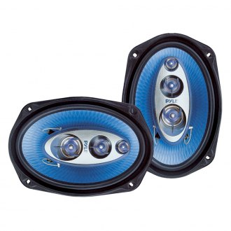 "Pyle® - 6"" x 9"" 4-Way Blue Poly Injection Cone 400W Speakers Systems"