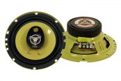 "Pyle® - 6.5"" 280W Yellow Color Poly Injected Cone 3-Way Speakers"