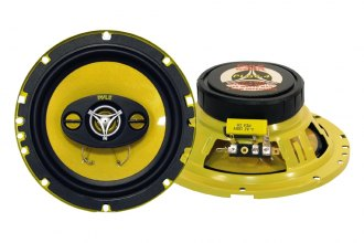 "Pyle® - 6.5"" 300W Yellow Color Poly Injected Cone 4-Way Speakers"