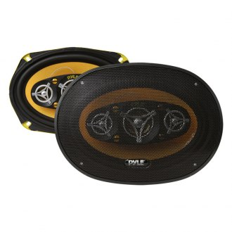 "Pyle® - 6"" x 9"" 8-Way Yellow Color Poly Injected Cone 500W Speakers"