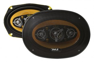 "Pyle® - 6"" x 9"" Yellow Color Poly Injected Cone 8-Way 500W Speakers"