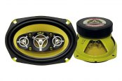 "Pyle® - 6""x9"" 500W Yellow Color Poly Injected Cone 8-Way Speakers"