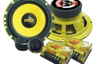 "Pyle® - 6.5"" 400W Yellow Color Poly Injection Cone Component Speakers"