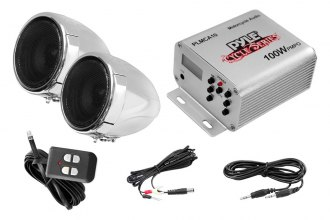 Pyle® - Motorcycle/ATV/Snowmobile Mount MP3/Ipod 100W Speakers with Amplifier