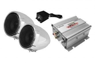 Pyle® - Motorcycle/ATV/Snowmobile Mount 100W Speakers with Amplifier