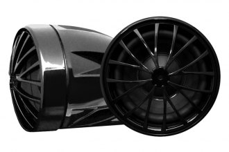 "Pyle® - 2-1/4"" Motorcycle/ATV/Snowmobile Dual Handle-bar Mount Bullet Style Black 400W Speakers"