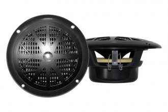 "Pyle® - 4"" Dual Cone Waterproof Black Stereo Speaker System"