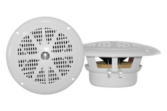"Pyle® - 4"" Dual Cone Waterproof White Stereo Speaker System"