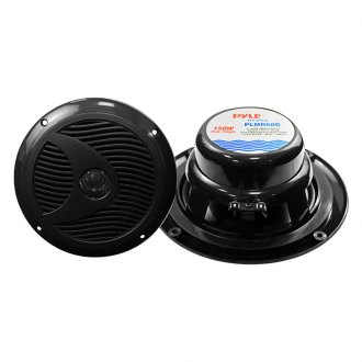 "Pyle® - 6-1/2"" Dual Cone Waterproof 150W Black Stereo Speakers"