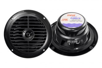 "Pyle® - 6-1/2"" Dual Cone Waterproof Stereo Black Speaker System"