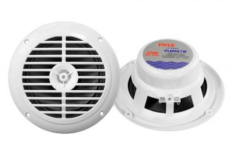 "Pyle® - 6-1/2"" Dual Cone Waterproof 120W White Speaker System"