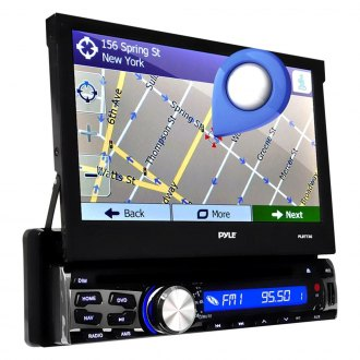 "Pyle® - Singel DIN DVD/CD/AM/FM/MP3/WMA/MP4 Receiver with 7"" Touchscreen HD Digital Display, Built-In Bluetooth and GPS Navigation"