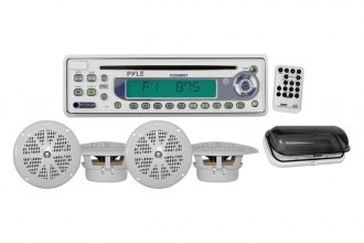 Pyle® - Single DIN Waterproof Marine AM/FM/CD Receiver