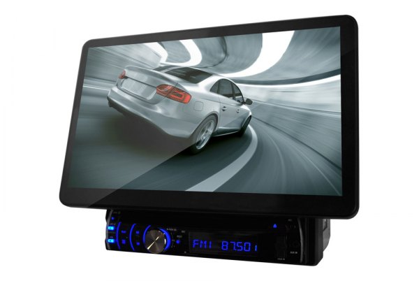 Pyle® - Single DIN DVD/VCD/CD/MP3/USB/AM/FM/RDS Receiver with 10.1\'\' Touch Screen TFT-LCD Monitor