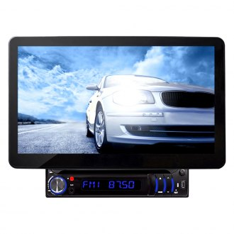 "Pyle® - Single DIN DVD/CD/AM/FM/MP3/MP4 Receiver with Motorized 10.1"" Touchscreen Display and Built-In Bluetooth"