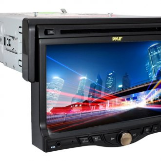 "Pyle® - Single DIN DVD/VCD/CD/AM/FM/MP3/MP4 Receiver with 7"" Motorized Touchscreen Display and Built-In Bluetooth"