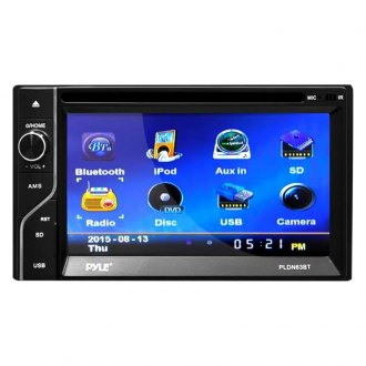"Pyle® - Double DIN DVD/CD/AM/FM/MP3/MP4/AVI Receiver with 6.5"" Touchscreen Display and Built-In Bluetooth"