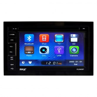 "Pyle® - Double DIN In-Dash CD/DVD/MP3/MP4-R/USB/SD-MMC/AM/FM Receiver with 6.5"" Touch Screen TFT/LCD Monitor and Bluetooth"