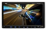 Pyle® - Double DIN DVD/VCD/CD/MP3/MP4 Reciever with 7'' Touch Screen TFT Monitor