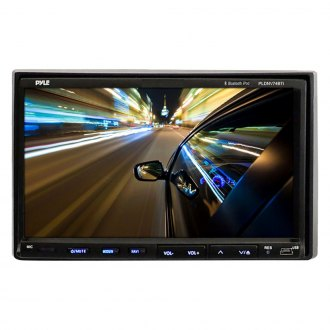 "Pyle® - Double DIN DVD/VCD/CD/AM/FM/MP3/MP4/AVI/WAV Receiver with 7"" Touchscreen Display and Built-In Bluetooth"