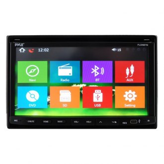 "Pyle® - Double DIN In-Dash CD/DVD/MP3/MP4/USB/SD/AM/FM/RDS Receiver with 7"" Motorized Fold-Down Touch Screen TFT/LCD Monitor, Bluetooth and Built-In GPS/TTS with USA/Canada and Mexico Maps"