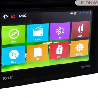 "Pyle® - Double DIN DVD/CD/AM/FM/MP3/MP4/AVI/WAV Receiver with 6.5"" Touchscreen Display, Built-In Bluetooth and GPS Navigation"