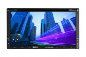 Pyle® - Double DIN DVD/MP4/MP3/CD Player with 6.95'' Touch Screen Monitor