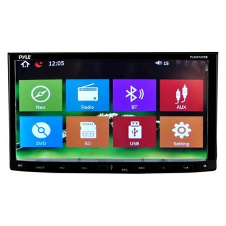 "Pyle® - Double DIN DVD/CD/AM/FM/MP3/MP4/AVI/WAV Receiver with 7"" Touchscreen Display, Built-In Bluetooth and GPS Navigation"