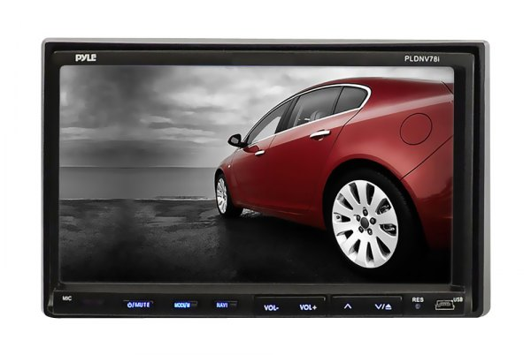 Pyle® - Double DIN In-Dash DVD/CD/MP3/MP4 Player with 7'' FT-LCD Monitor