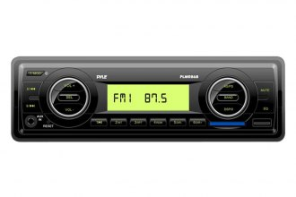 Pyle® - Single DIN AM/FM-MPX Black Electronic Radio