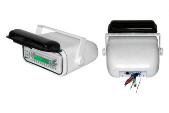 Pyle® - White Marine Stereo Housing with Full Chassis Wired Casing