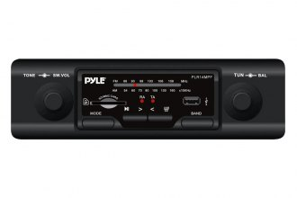 Pyle® - Single DIN In-Dash MP3/AM/FM-MPX Shaft Style Radio