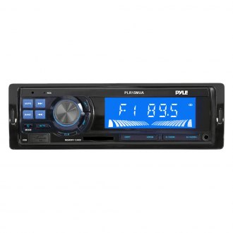 Pyle® - Single DIN In-Dash AM/FM Radio with USB/SD Readers and Aux-Input