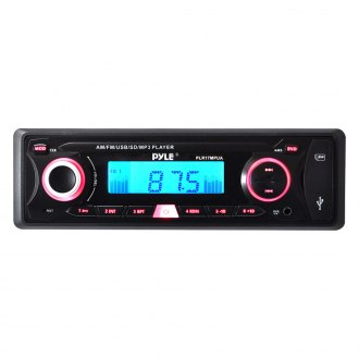 Pyle® - Single DIN In-Dash MP3/AM/FM-MPX/USB/SD Receiver with AUX Input