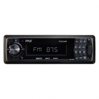 Pyle® - Single DIN In-Dash AM/FM Radio with USB/SD/MMC Readers and Aux-Input