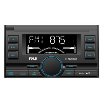 Pyle® - Double DIN In-Dash AM/FM Radio with USB/SD/MMC Readers and Aux-Input with Bluetooth