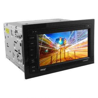 "Pyle® - Double DIN JPEG/MP3/MP4/AVI/WAV/AUX/AM/FM Receiver with 6.5"" LCD Digital Touchscreen Display and Built-In Bluetooth"