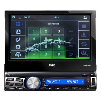 "Pyle® - Single DIN AM/FM/MP3/WMA/MP4 In-Dash Receiver with 7"" Detachable Motorized Touchscreen TFT/LCD Monitor and Built-In Bluetooth"