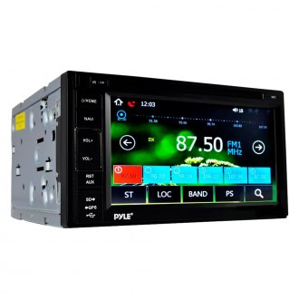 "Pyle® - Double DIN AM/FM/MP3/MP4/AVI/WAV Receiver with 6.5"" LCD Digital Touchscreen Display, Built-In Bluetooth and GPS Navigation"