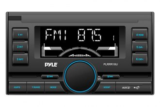 Pyle® - Double DIN In-Dash AM/FM Radio with USB/SD/MMC Readers and Aux-Input