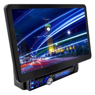 "Pyle® - Single DIN DVD/CD/VCD/AM/FM/MP3 In-Dash Receiver with Motorized 13.1"" Detachable TFT-LCD Monitor and Built-In Bluetooth"
